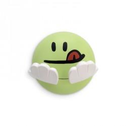 Colgador adhesivo infantil verde ferrebric