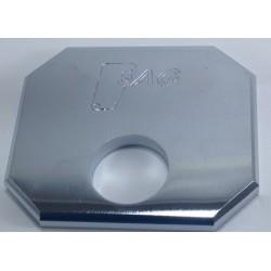 Placa reforzada cerrojo SAG cromado ferrebric