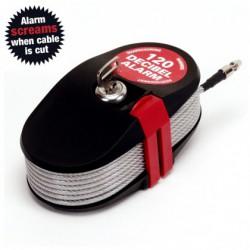 Cable cerrojo antirrobo con alarma 4,6m
