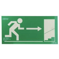 Cartel Salida Emergencia Escalera Derecha Arriba 21x30