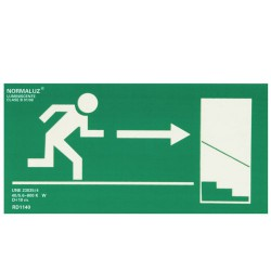 Cartel Salida Emergencia Escalera Derecha Abajo 21x30