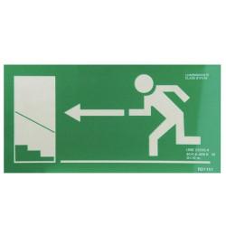 Cartel salida emergencia escalera izq. arriba 21x30