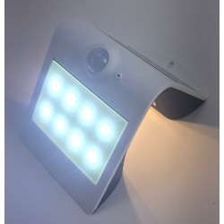 Aplique Solar Led recargable IP65 blanco EDH ferrebric