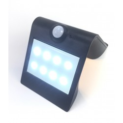 Aplique Solar Led recargable IP65 negro EDH ferrebric