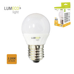 Bombilla led 5W E-27 luz cálida Lumeco