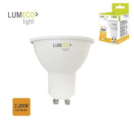Bombilla led 5W GU10 luz cálida Lumeco