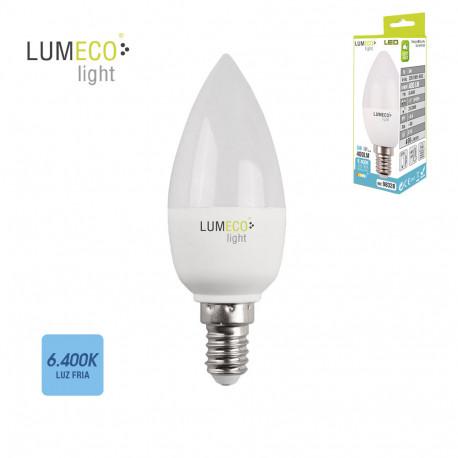 Bombilla vela LED 5w E14 luz fría Lumeco