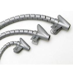 Organizador de cables 15mm 2,5m gris ferrebric