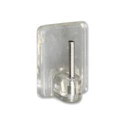 Percha visillo pequeña transparente adhesiva