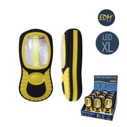 Linterna LED COB XL doble función con gancho e imán