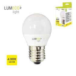 Bombilla LED esférica 5W E27 4000K Lumeco
