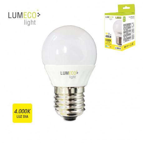 Bombilla LED esférica 5W E27 4000K Lumeco ferrebric